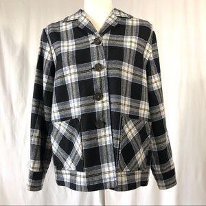 The Pendleton 49'er Black Plaid Virgin Wool Jacket